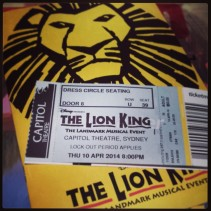 Ticket and Playbill from Lion King